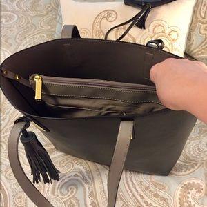 Joy Mangano Bags - Joy/Iman leather tote bag